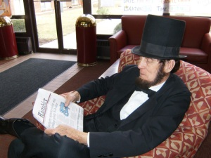 In honor of the recent Kenan Lecture and Lincoln's Bicentennial, an Abraham Lincoln impersonator visits Transy and interacts with students and staff.
